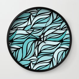 Blue texture Wall Clock