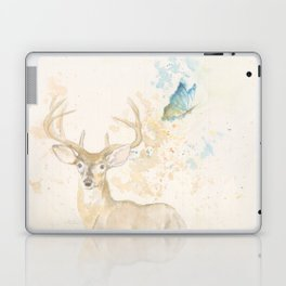 Deer and butterfly Laptop & iPad Skin