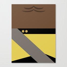 Worf - Minimalist Star Trek TNG The Next Generation - Enterprise 1701 D - startrek - Trektangles Canvas Print