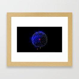 Cellular Firework Framed Art Print