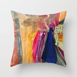 Collage Love - Asian Tie Throw Pillow