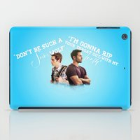 stiles iPad Cases featuring Stiles & Derek (Teen Wolf)  by mellarkstilinski