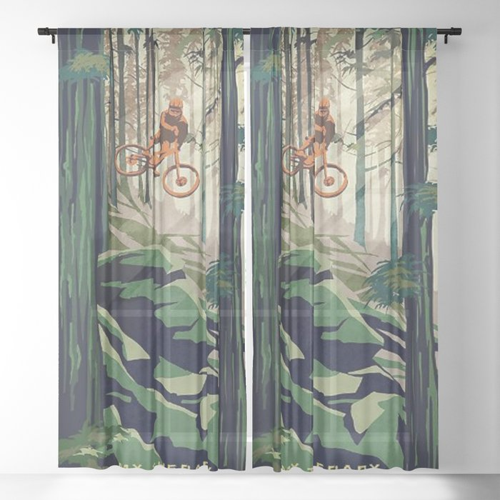 MY THERAPY Mountain Bike Sheer Curtain