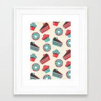 happy birthday Framed Art Prints featuring happy birthday  by marella