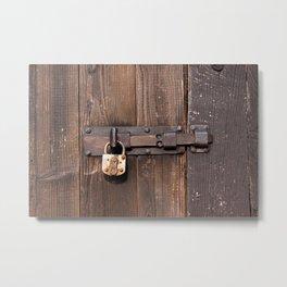 Locked - verschlossen Metal Print