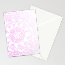 Bohemian Chic and Pretty in Pink Mandala Stationery Cards