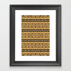 Montana Stripe - Gold Framed Art Print