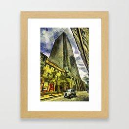 Canary Wharf London Art Framed Art Print