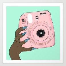 pink instax Art Print
