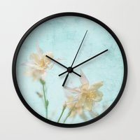 teal Wall Clocks featuring TEAL by SUNLIGHT STUDIOS  Monika Strigel