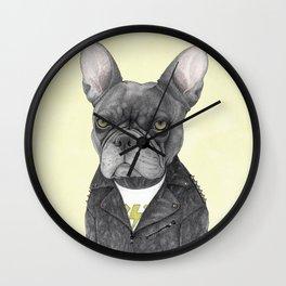 Hard Rock French Bulldog Wall Clock