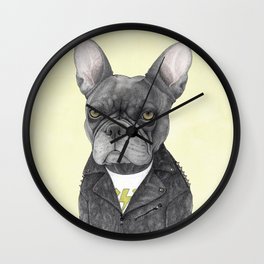 Hard Rock French Bulldog Wall Clock