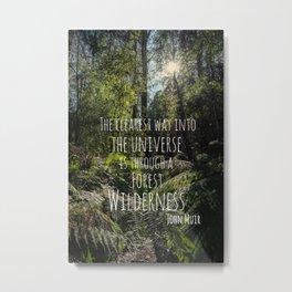 Forest Wilderness Metal Print