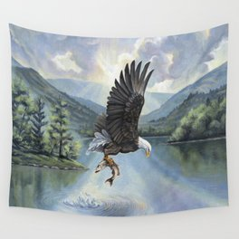 Eagle with Fish Wall Tapestry