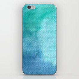Blue Watercolor Texture iPhone Skin