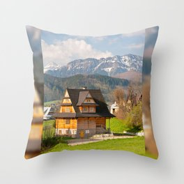 village in Tatra Country Throw Pillow