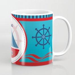 Cool Blue Sailboat Background Coffee Mug
