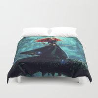 brave Duvet Covers featuring Brave by Juniper Vinetree