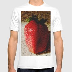 Berry Delicious! MEDIUM Mens Fitted Tee White