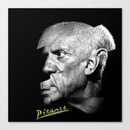Pablo Picasso Cubism Collage Canvas Print