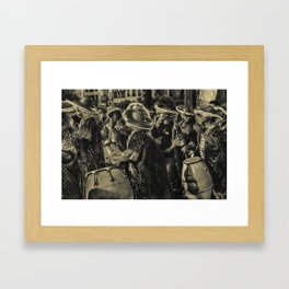Group of Candombe Drummers at Carnival Parade of Uruguay Framed Art Print