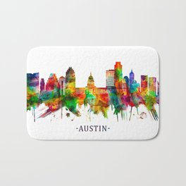 Austin Texas Skyline Bath Mat