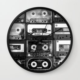Something Nostalgic - black and white #decor #society6 #buyart Wall Clock