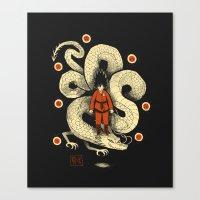 dbz Canvas Prints featuring dbz by Louis Roskosch