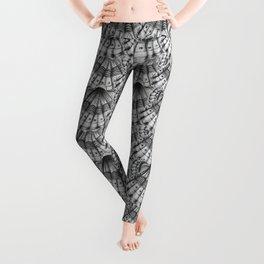 Dystopian Cockle - Black & White Leggings
