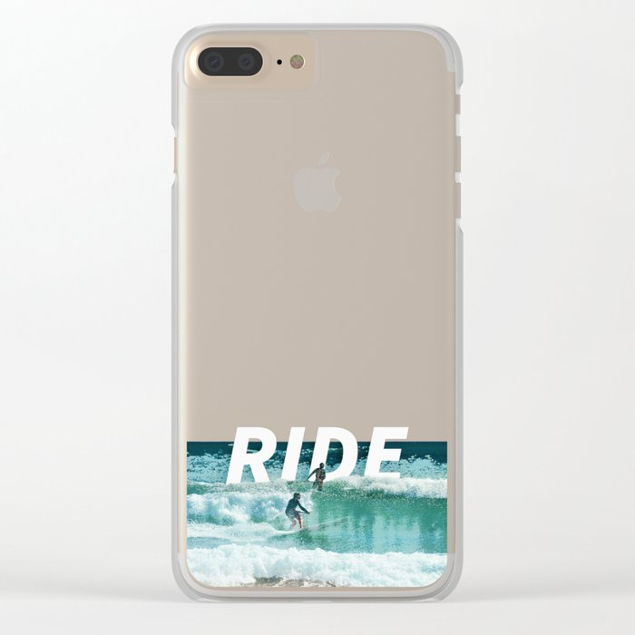 Ride The Waves Clear iPhone Case