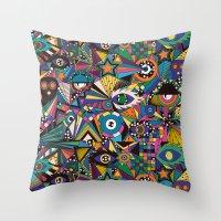 circus Throw Pillows featuring Circus by Naia Ceschin