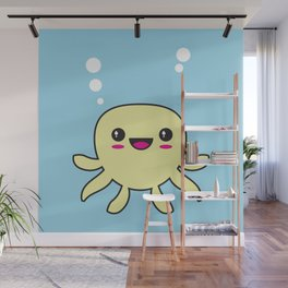Kawaii Octopus Wall Mural