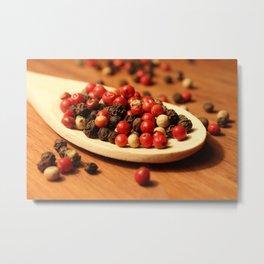 Peppercorns Metal Print