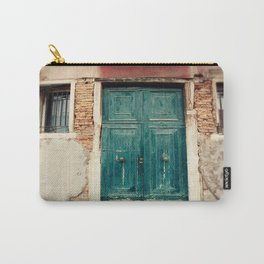 Turquoise Door in Venice Carry-All Pouch