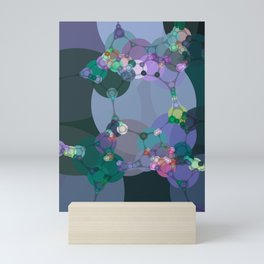 ariel - abstract design of teal emerald green lilac pale blue periwinkle Mini Art Print