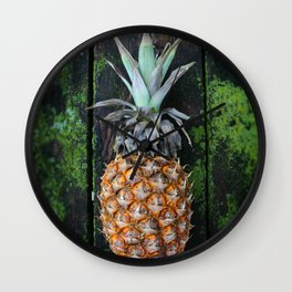 Weathered Pineapple Wall Clock