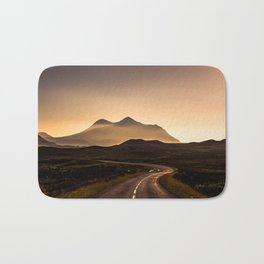 Sunset Mountain Road Bath Mat