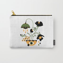 Sad Funky Flowers Carry-All Pouch