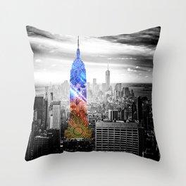 Funky Landmark - NY Throw Pillow