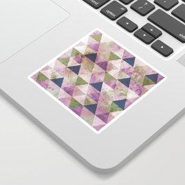 Blue, Green & Purple Triangle Geometric Design Sticker