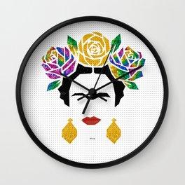 Frida Portrait Wall Clock