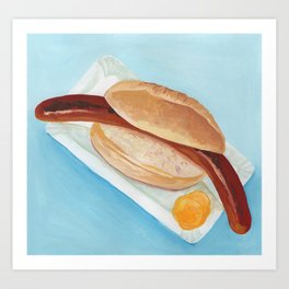 German Sausage Art Print