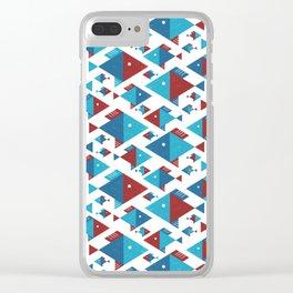 geometrical shoal Clear iPhone Case