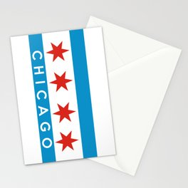 chicago city flag name text Stationery Cards