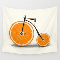 clockwork orange Wall Tapestries featuring Vitamin by Florent Bodart / Speakerine