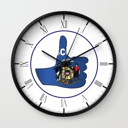 Thumbs Up Wisconsin Wall Clock