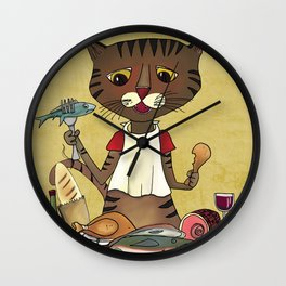 'Owen's Second Breakfast' Wall Clock