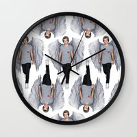 harry Wall Clocks featuring Harry by Guts N' Gore