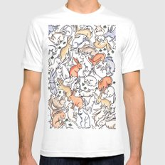Colour Bunny Pattern Mens Fitted Tee MEDIUM White