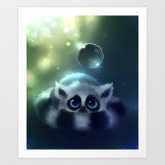 Forest Lemur Art Print